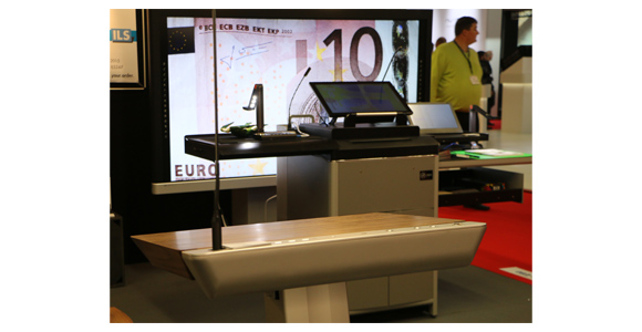 ILS24 lectern with HoverCam at ISE 2015